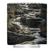 Cullasaja Falls In Autumn Close Up Shower Curtain