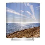 Cullercoats Pier Shower Curtain