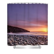 Cullernose Point At Sunrise Shower Curtain