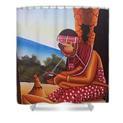 Cultural Drawings Shower Curtain