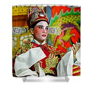 Cultural Opera Actor In Red Shower Curtain