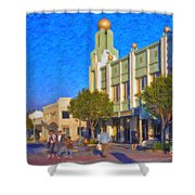 Culver City Plaza Theaters   Shower Curtain