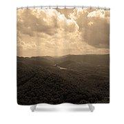 Cumberland Gap - Kentucky Sepia Shower Curtain