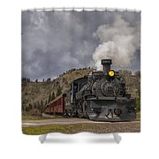 Cumbres And Toltec Railroad Crossing Nm Dsc04057 Shower Curtain