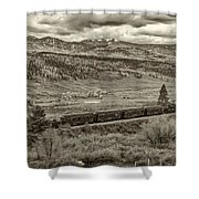 Cumbres Toltec Railroad Nm Sepia Dsc04065 Shower Curtain