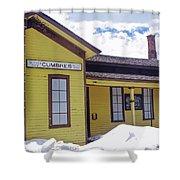 Cumbres Train Station Shower Curtain