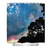 Cumulonimbus Clouds At Sunset Shower Curtain
