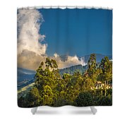 Giant Over The Mountains Shower Curtain