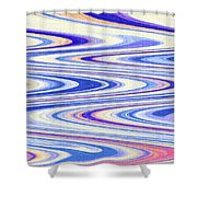 Cumulus Clouds And Blue Sky Abstract Shower Curtain