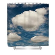 Cumulus Clouds With Nature Patterns Shower Curtain