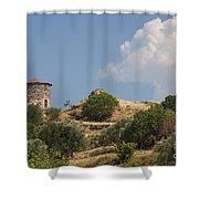 Cunda Island Greek Windmill Shower Curtain