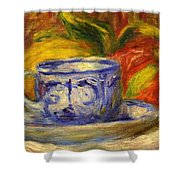 Cup And Fruit Shower Curtain