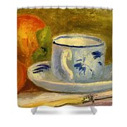 Cup And Oranges Shower Curtain
