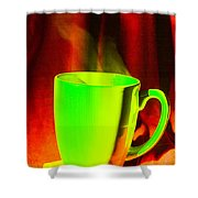 cup Shower Curtain