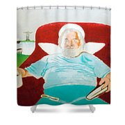 A Cup Half-empty Shower Curtain