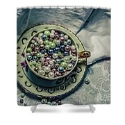 Cup Of Beads Shower Curtain
