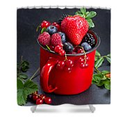 Cup Of Fresh Berries Shower Curtain