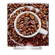 Cup Of Raw Coffee Shower Curtain