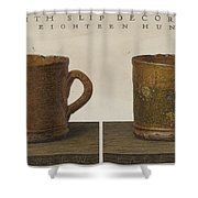 Cup With Slip Decoration Shower Curtain