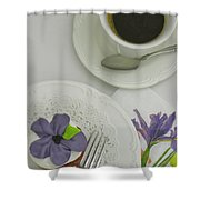 Cupcake And Coffee Shower Curtain