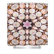 Cupcake Kaleidoscope Shower Curtain