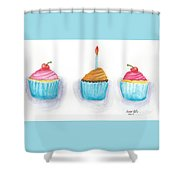 Cupcakes?  Shower Curtain
