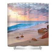 Cupecoy Beach Sunset Saint Maarten Shower Curtain