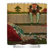 Cupid And Campaspe Shower Curtain