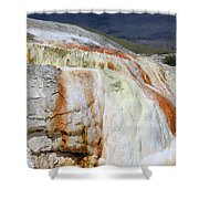 Cupid Spring At Mammoth Hot Springs Shower Curtain
