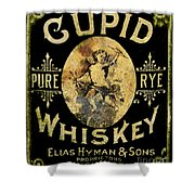 Cupid Whiskey Shower Curtain