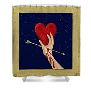 Cupids Arrow Shower Curtain by Charles Harden