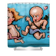 Cupid's Chase Shower Curtain
