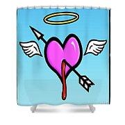 Cupids Heart Shower Curtain