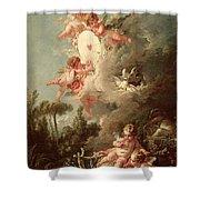 Cupids Target Shower Curtain