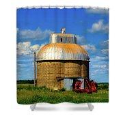 Cupola Grain Silo - Iowa Shower Curtain