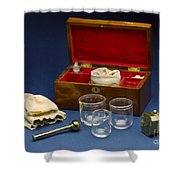 Cupping Set, London, England, C. 1865 Shower Curtain
