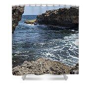 Curacao - Coast At Shete Boka National Park Shower Curtain