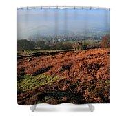 Curbar Edge Curbar Valley Derbyshire Shower Curtain