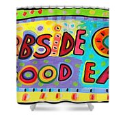 Curbside Cafe Shower Curtain