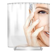 Cure Acne Through Unconventional Methods Shower Curtain