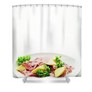 Cured Parma Serrano Style Ham With Fresh Mango Salad Snack Shower Curtain