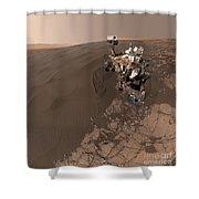 Curiosity Rover Self-portrait Shower Curtain