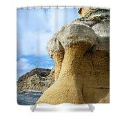 Curious Cliff Shower Curtain