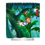 Curious George 3 Back To The Jungle Shower Curtain