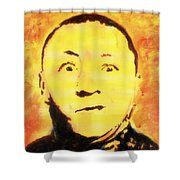 Curly Howard Three Stooges Pop Art Shower Curtain