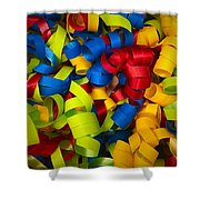 Curly Ribbons  Shower Curtain