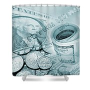 Currency Shower Curtain