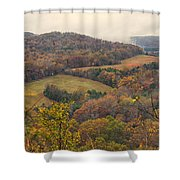 Current River Valley Near Acers Ferry Mo Dsc09419 Shower Curtain