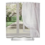 Curtains Blowing In The Breeze Shower Curtain