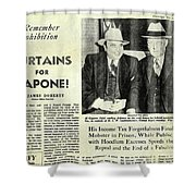 Curtains For Capone Shower Curtain